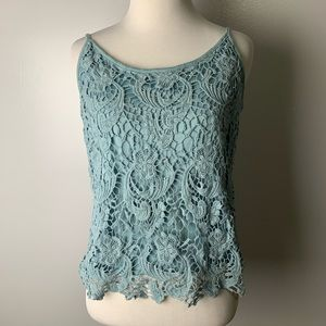Mossimo | crop top tank with lace